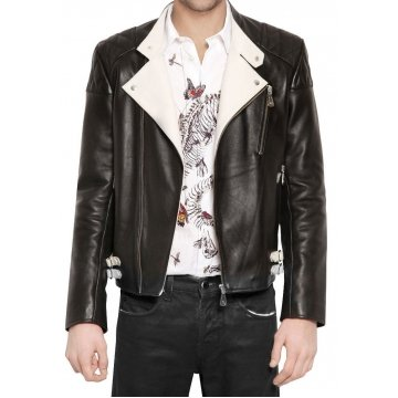 Branded Black Leather Jacket for Men