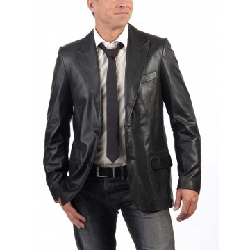 Men's Genuine Lambskin Leather Blazer