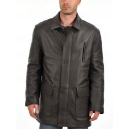 Soft Lambskin Mens Leather Car Coat