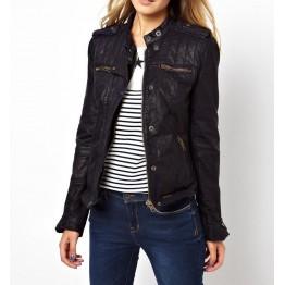 Best Womens Genuine Black Leather Jacket