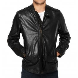 Best Mens Genuine Lambskin Black Short Leather Jacket