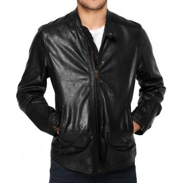 Best Mens Genuine Lambskin Black Short Leather Jacket