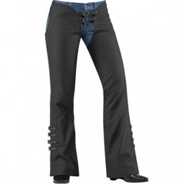 Womens Custom Fit Natural Black Leather Riding Chaps
