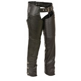 Womens Reflective Piping Leather Thigh Pocket Chaps