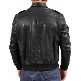 Mens Flying Casual Leather Bomber Jacket