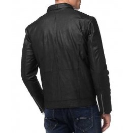 Classic style Mens Black Leather Jacket
