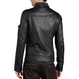 Genuine Design Mens Black Leather Jacket