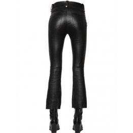 Genuine Soft Black Leather Jeans Pants for Womens