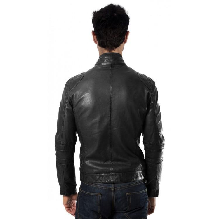 Lightweight mens leather jacket