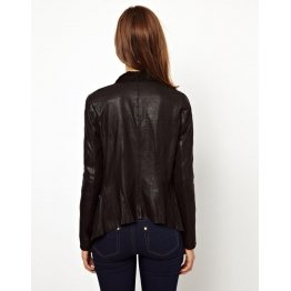 Womens Designer Moto Style Black Leather Jacket