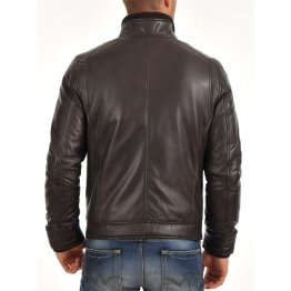 Mens Fitted Soft Black Leather Jacket