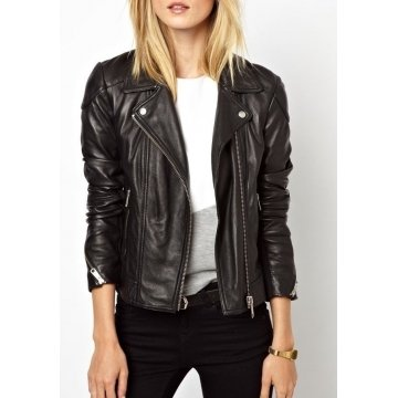 Best Fitted Black Women Leather Jacket