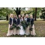 Bridal Party Leather Jackets Rocking on Wedding Day