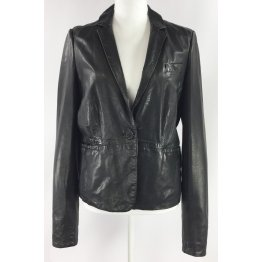 Ladies Western Classic Black Leather Blazer Outfit