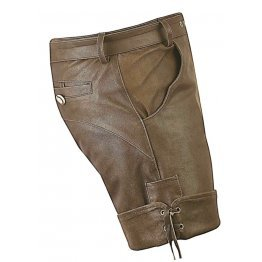 Men Smart Wear Real Sheepskin Brown Leather Shorts
