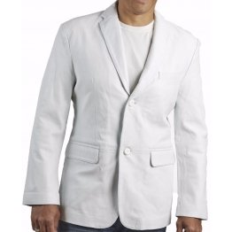 Mens Celebrity Style Smart Genuine White Leather Blazer