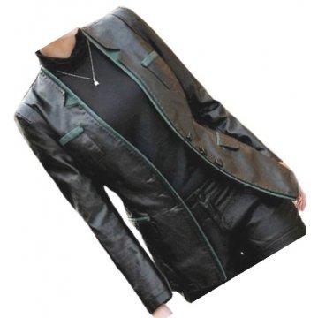 Womens Trendsetting Real Sheepskin Black Leather Blazer Coat