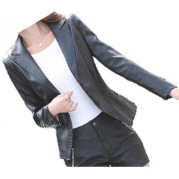 Womens Unique Look Real Lambskin Black Leather Blazer Coat