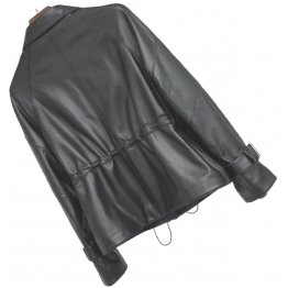 Womens Distinctive Style Genuine Sheepskin Black Leather Jacket Coat