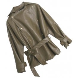 Womens Elegant New Fashion Genuine Sheepskin Brown Leather Jacket Coat