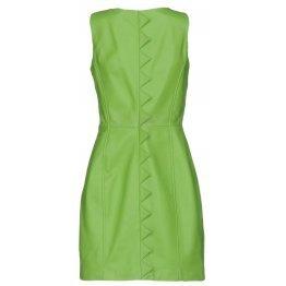Womens Classic Real Sheepskin Green Leather Dress