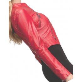 Girls Fabulous Original Lambskin Red Leather Jacket