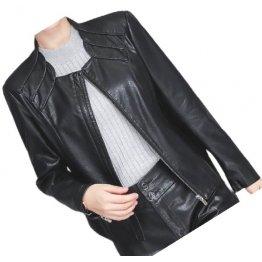New Trendy Ladies Original Lambskin Black Leather Jacket