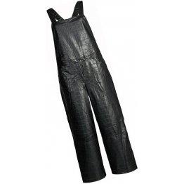 Womens Crocodile Embossed Original Sheepskin Black Leather Jumpsuit