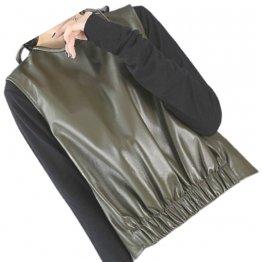 Womens Amazing Look Sleeveless Real Sheepskin Olive Green Vest Waistcoat