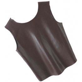 Womens Glamorous Design Sleeveless Real Sheepskin Brown Leather Vest Waistcoat