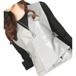 Womens Incredible Look Sleeveless Real Lambskin Gray Leather Vest Waistcoat