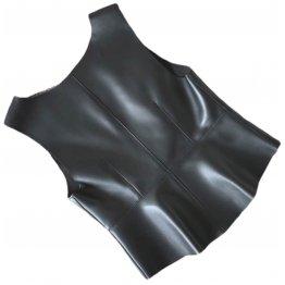 Womens Stunning Look Sleeveless Real Sheepskin Black Vest Waistcoat