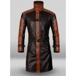Aiden Pearce Watch Dog Pure Leather Trench Coat for Men