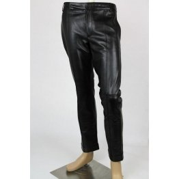 New Authentic Fashion Black Leather Pant Mens