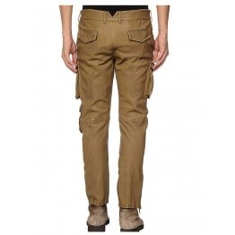 Custom Made Genuine Soft Pure Leather Cargo Pants for Men