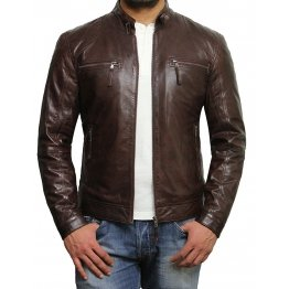 Designer Look Genuine Lambskin Leather Jacket for Men