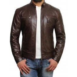 Designer Look Genuine Lambskin Leather Jacket for Men