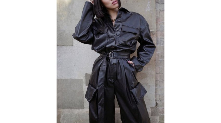 How do you Style a Baggy Leather Jumpsuit?