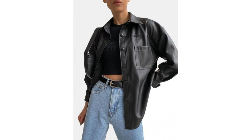 How to Style a Leather Overshirt?