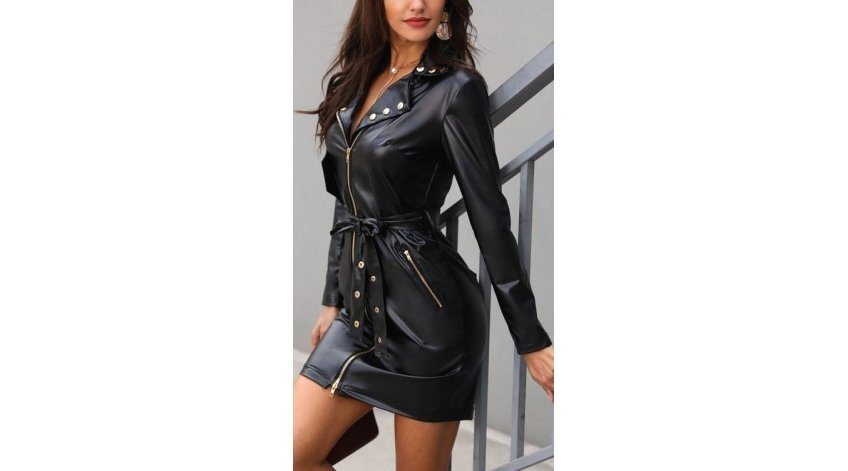 How to Style Short Leather Dress in Winters?
