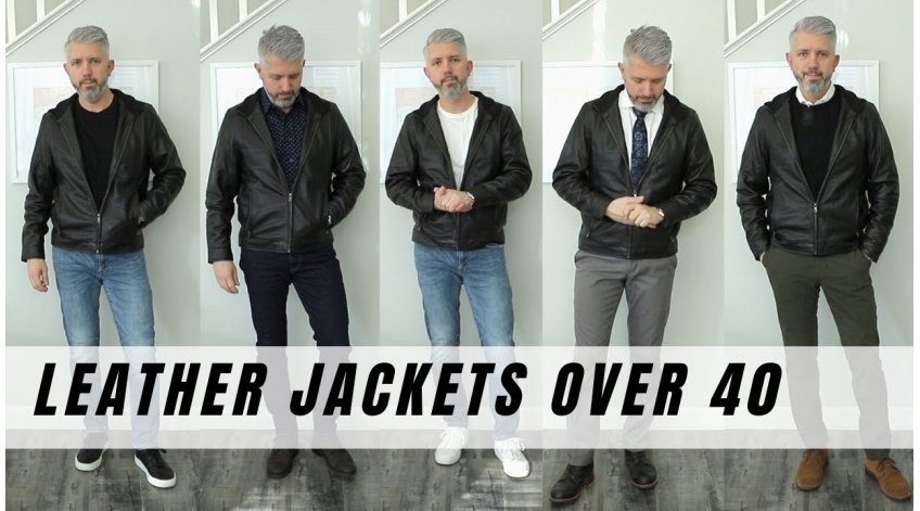 How to Wear A Leather Jacket Over 40?
