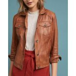 How to Wear Brown Women's Leather Biker Jacket?