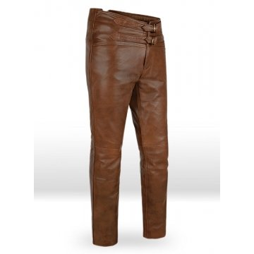 Jim Morrison Custom Made Genuine Soft Brown Leather Pants