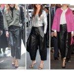 Leather Capri Pants Outfit Ideas