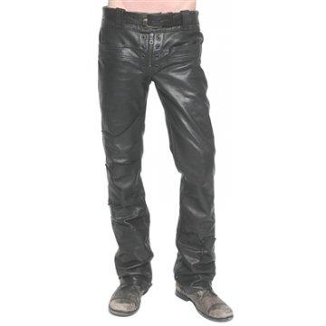Mens Custom Made Junker Designs Black Leather Pants