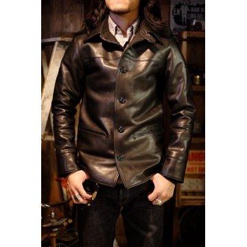 Mens Fashion Real Black Leather Car Coat