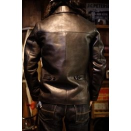 Mens Fashion Real Black Leather Car Coat