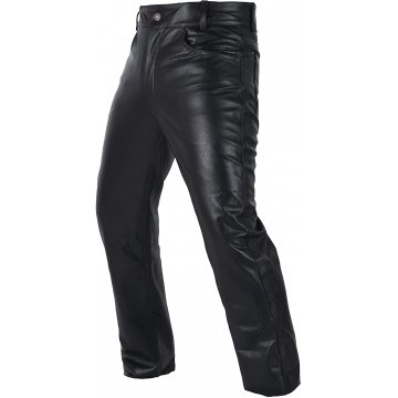 Mens Motorcycle Heavy Duty Premium Black Leather Pants