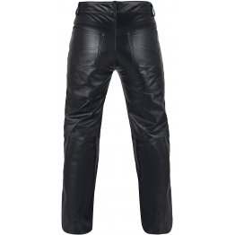 Mens Motorcycle Heavy Duty Premium Black Leather Pants