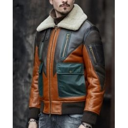 Mens Stunning Soft Real Lambskin Warm Leather Bomber Jacket